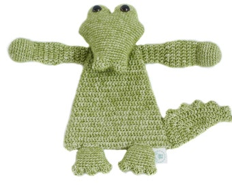 Kasper, the naughty crochet crocodile