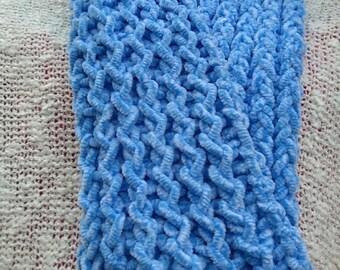 Light blue knit scarf