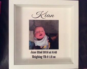 Birth celebration photo frame