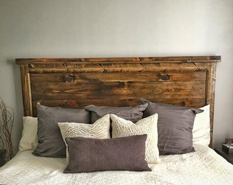 The Stonewall-(Size: Queen)- Rustic Headboard
