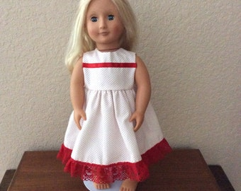"""Beautiful Handmade Party Dress for 18"""" or American Girl Doll"""