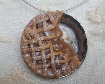 Lattice Apple Pie Necklace
