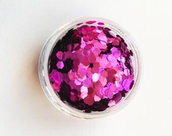 Pink Metallic Large Chunky Glitter 5g Pots