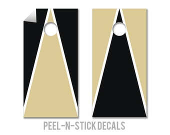 Purdue College Colors Cornhole Board Decals