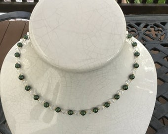 Iridescent Green Necklace