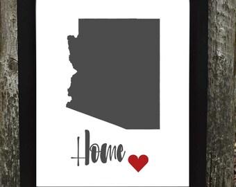 Arizona digital download, Arizona print, States Downloadable Print