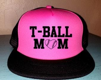 T-Ball Mom Trucker Hat Snapback Hat Custom Trucker Hat Gameday Trucker Hat Sports Mom