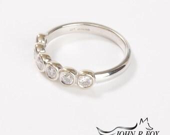 Chubbie 18ct Gold & Diamond Half Eternity Ring