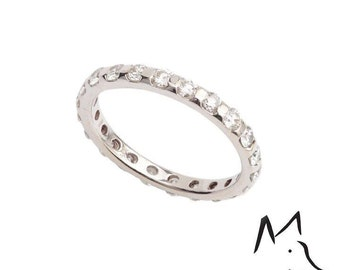 18ct White Gold and Diamond Full Eternity Ring