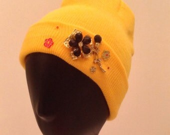 Bedazzled/embellished women's beanie