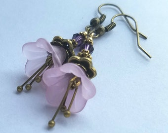 Moonlight Purple and bronze earrings