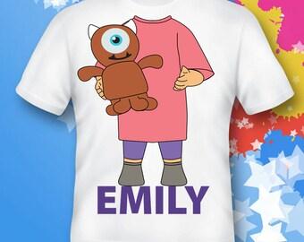monster inc shirt.  boo shirt.  monster inc gift. monster inc costume.  monster inc birthday