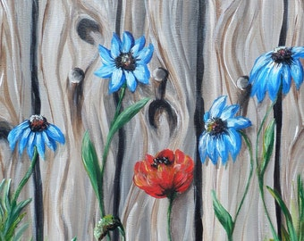 Flowers, acrylic, painting, gift, picture,hand made