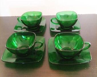 glass tea cup etsy. Black Bedroom Furniture Sets. Home Design Ideas