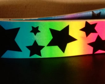 Neon Rainbow Star Vinyl Belt
