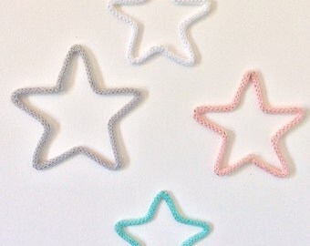 4 small stars in knitting/4 little loom-knitting Stars