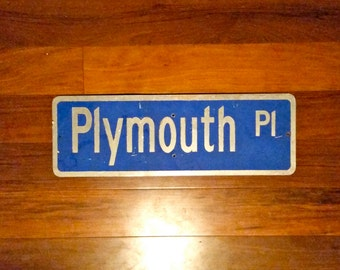 Plymouth Street Sign