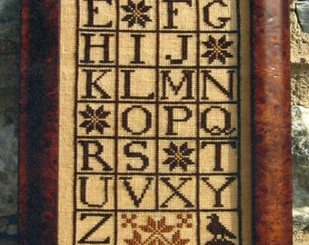Quaker Alphabet Sampler by Carriage House Samplings Counted Cross Stitch Pattern/Chart