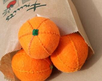 Orange felt for the dinette