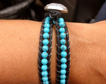Turquoise Chan Luu style bracelet