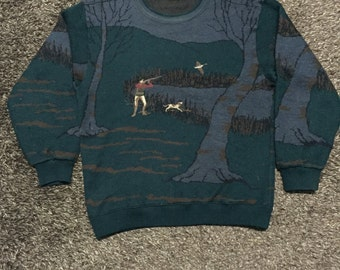 "vintage knit sweatshirt by ""SEAGLEN"" nice design"