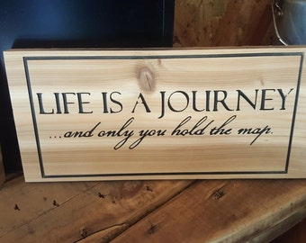 Life is a journey ...and only you hold the map