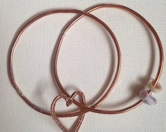 Double bangs copper hearts