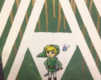 Legend of zelda. Link painting