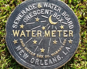 New Orleans Water Meter Cover - Man Cave Special :)