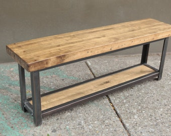 Entryway Bench // Reclaimed Wood Bench // Wood Bench // Rustic Bench, bench, kitchen, hall bench, entry bench
