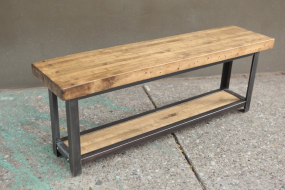 Entryway Bench Reclaimed Wood Bench Wood Bench Rustic
