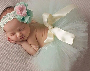 Baby tutu and headbands