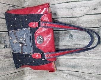 Jena real leather handbag