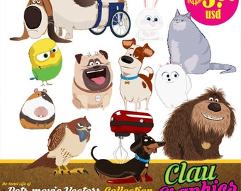 The Secret Life of Pets digital collection, Receive the editable files and the SVG patterns and PNG images 300 dpi, Free Resolution