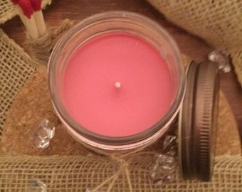Strawberry soy candles, soy wax candles, scented candles, scented soy wax candles, gift for friend, handmade candles, scented soy candles