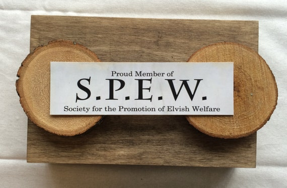 S.P.E.W Bookmark - Harry Potter - House Elf - Society for the Promotion of Elvish Welfare