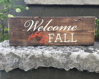 Welcome Fall Rustic Sign