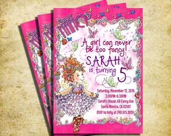Fancy Nancy Invitation - Fancy Nancy Birthday Party Invite  - Printable And Digital File