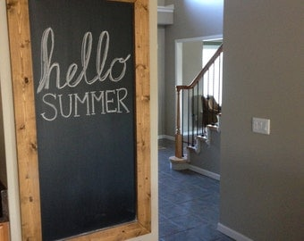 Large Rustic Wood Chalkboard
