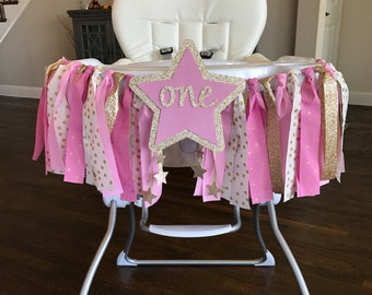 Twinkle Twinkle Little Star High Chair Birthday Banner