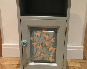Cherry Blossom Hand Painted Bedside Table