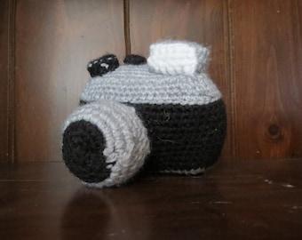 Crochet Camera - Black