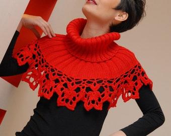 romantic red neck warmer