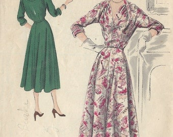 "1950 VOGUE Vintage Sewing Pattern B34"" DRESS (1309) Vogue  S-4077"