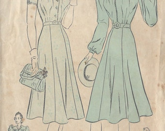 "1940s Vintage Sewing Pattern B30"" DRESS (112)  Advance 2303"