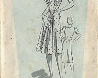 "1940s Vintage Sewing Pattern DRESS B34"" (8) Weldons 154043"