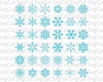 Snowflakes cut file, Snowflakes Svg, Snowflake clipart, Winter Svg, Christmas Svg, Svg Cut Files, Snow Svg, Cut Files, Svg Silhouette