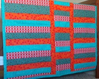 Bright colors that babies can see and reminiscent of Native American quilts!