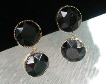 Vintage Lewis Segal Black earrings