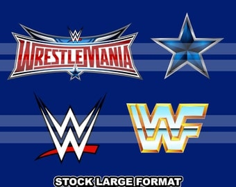 Wrestlemania - Icons Clipart - 4 png files 12 inches 300 dpi